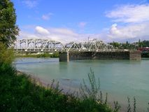 Ponte do rio de Skagit fotografia de stock