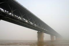 Ponte do rio de Yangtze Fotografia de Stock