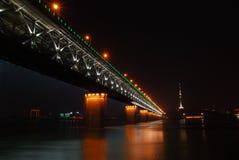 Ponte do rio de Yangtze Fotos de Stock Royalty Free