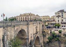 A ponte do rondó da cidade Imagens de Stock
