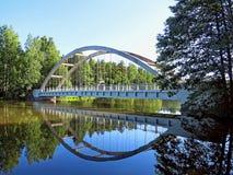A ponte do silta de Savukosken é ao lado da estrada E18 em Finlandia Imagem de Stock Royalty Free
