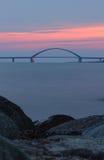 Ponte do som de Fehmarn Fotos de Stock Royalty Free