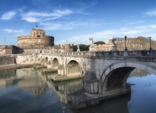 Ponte do St Angelo Fotografia de Stock