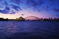 Ponte do teatro da ópera & do porto de Sydney Imagens de Stock