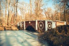 Ponte do tijolo vermelho Foto de Stock Royalty Free