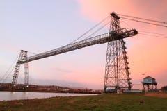 Ponte do transportador, Newport foto de stock