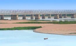 Ponte do trem Fotografia de Stock
