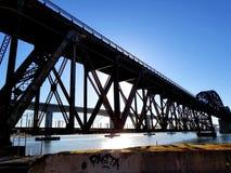 A ponte do trem, Benicia, CA imagens de stock royalty free