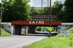 Ponte do trilho do Cairo imagens de stock