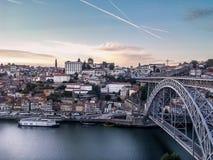 Ponte Dom Luis I, Oporto, Portugal imagen de archivo libre de regalías