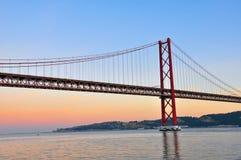 Ponte dorato Fotografia Stock Libera da Diritti