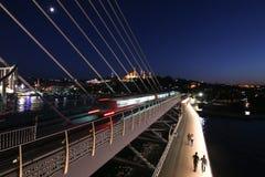 Ponte dorato della metropolitana di Horn a Costantinopoli, Turchia Fotografia Stock Libera da Diritti