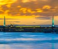 Ponte dorato della metropolitana di Horn, Costantinopoli, Turchia Fotografie Stock Libere da Diritti