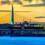 Ponte dorato della metropolitana di Horn, Costantinopoli, Turchia Fotografia Stock