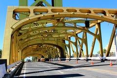 Ponte dorato della torre Immagine Stock Libera da Diritti