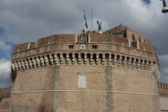 Ponte dos ângulos, Tibre - Roma imagem de stock