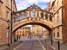 Ponte dos suspiros, universidade de Oxford fotografia de stock