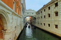 A ponte dos suspiros, Veneza, Itália Imagens de Stock Royalty Free