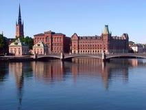 A ponte dos vasos. Stockhom, Sweden. Foto de Stock Royalty Free