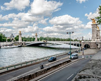 Ponte dourada Imagens de Stock Royalty Free