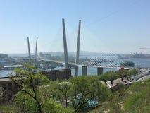 A ponte dourada Foto de Stock