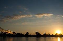 Ponte dourada Imagem de Stock