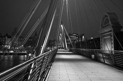 Ponte dourada do jubileu Imagens de Stock