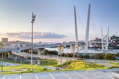 Ponte dourada, Vladivostok, Rússia Fotografia de Stock