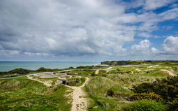 Ponte du Hoc Normandy stock images