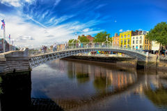 Ponte Dublin do halfpenny Fotografia de Stock Royalty Free