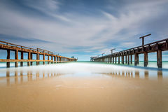 Ponte dupla em Mae Rum Pueng Beach Imagem de Stock