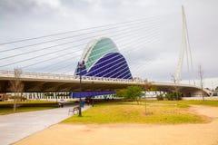 Ponte e ágora de Calatrava que constroem Valência spain Imagem de Stock