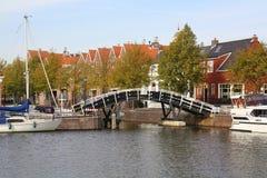 Ponte e barche Immagini Stock Libere da Diritti