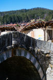 Ponte e casa velhas na vila etnográfica Koprivshtitsa Fotos de Stock Royalty Free