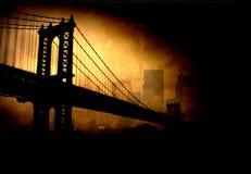 Ponte e cidade ilustração do vetor