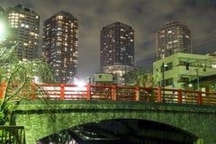 Ponte e construção alta Imagem de Stock