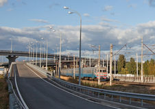 Ponte e ferrovia Immagine Stock Libera da Diritti
