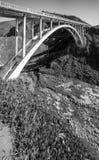 Ponte e litoral de Bixby em Big Sur Foto de Stock Royalty Free