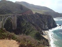 Ponte e litorale di Pch Immagine Stock Libera da Diritti