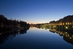 Ponte e Murazzi di Umberto I Immagine Stock