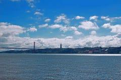 Ponte e o monumento a Cristo Fotografia de Stock