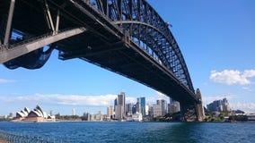 A ponte e o teatro da ópera de porto de Sydney Imagem de Stock Royalty Free