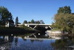 Ponte e paesaggio Immagine Stock