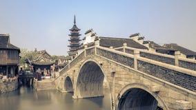Ponte e Pagoda Imagens de Stock
