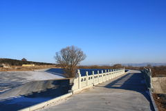 Ponte e a paisagem Imagens de Stock