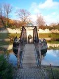 Ponte e rotunda al castello di Bojnice, Slovacchia Immagine Stock Libera da Diritti