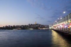 Ponte e torre de Galata Fotos de Stock