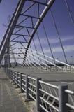 Ponte e trilhos do aço estrutural Fotos de Stock Royalty Free