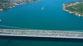 Ponte e vista panorâmica de Bosphorus filme