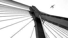Ponte ed aereo Immagine Stock Libera da Diritti